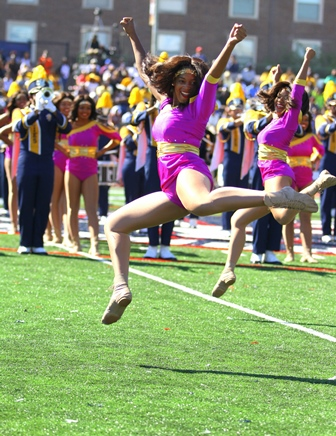 North Carolina A&T Golden Delight dancers perform...
