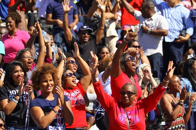 Howard University Bison fans enjoying the game