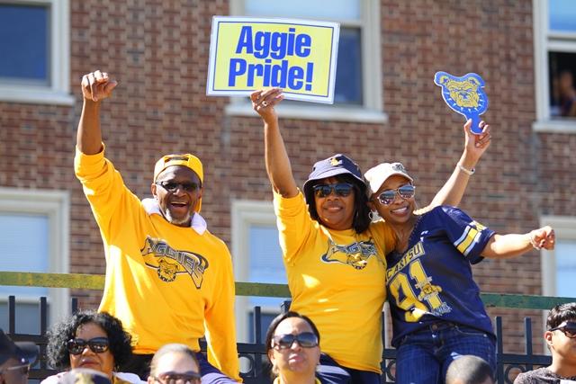 "North Carolina A&T fans ""Aggies Pride"""