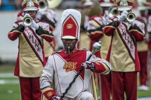 Bethune-Cookman University marching Wildcats band...