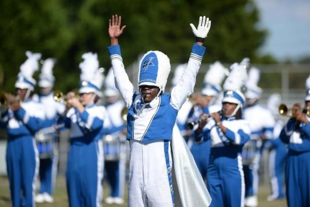 Elizabeth City State marching band performs at ha...