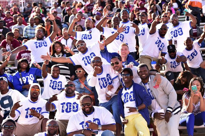 Alabama A&M Phi Beta Sigma at homecoming