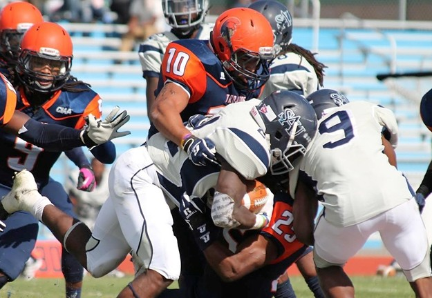 Virginia State Trojans hold off the Falcons of Sa...
