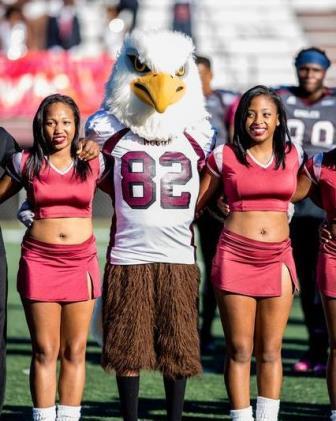 North Carolina Central Eagles cheerleaders and ma...
