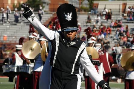 North Carolina Central drum major and marching ba...