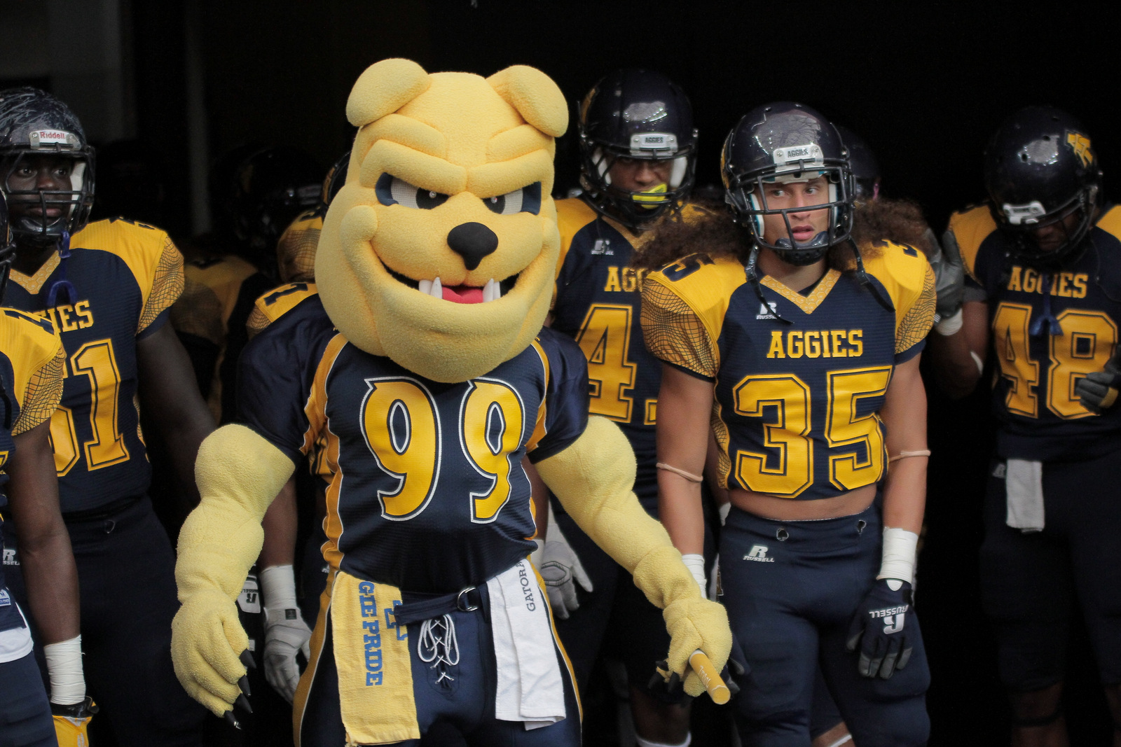 North Carolina A&T Aggies get ready to take the f...