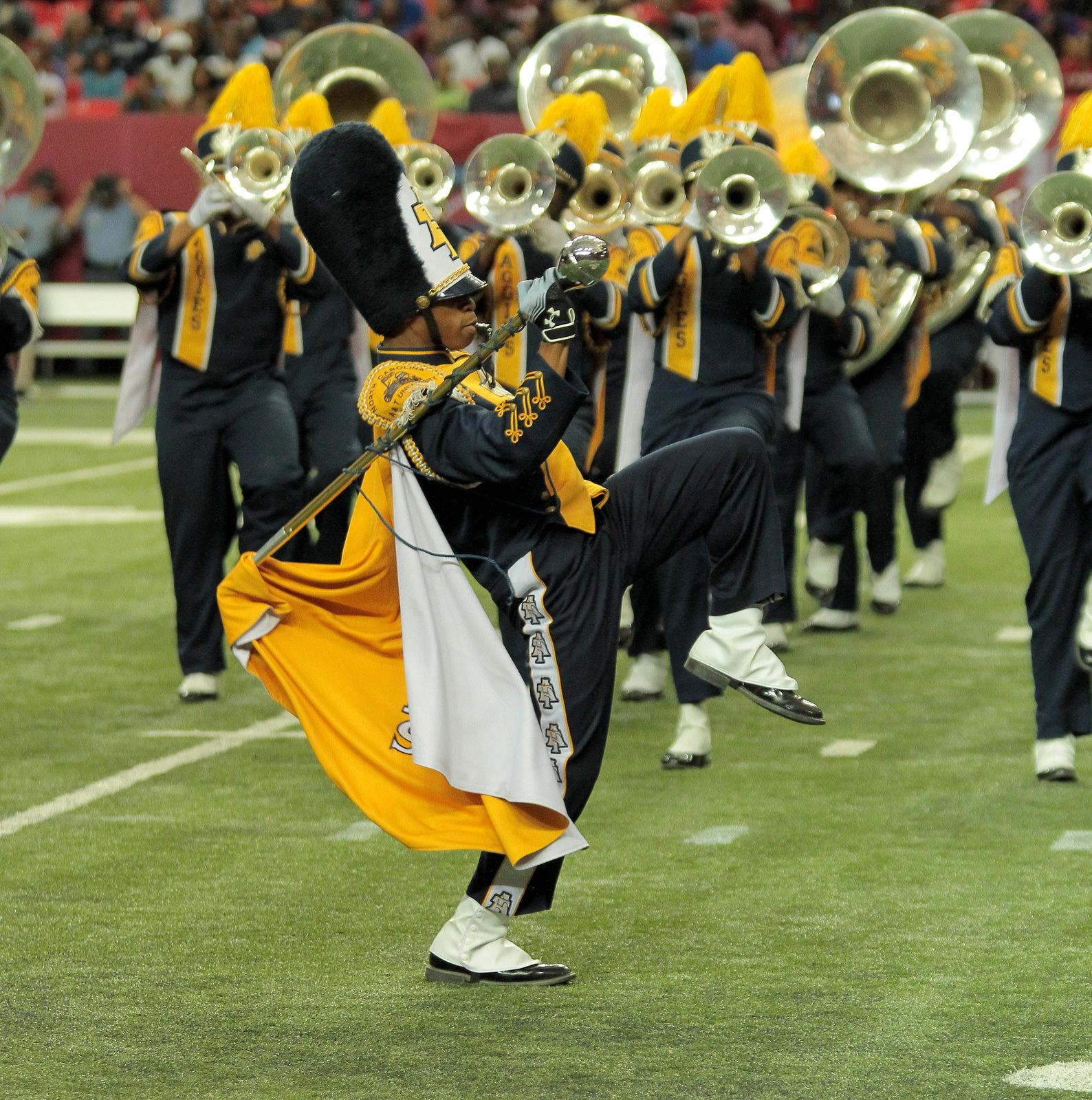 North Carolina A&T drum major and marching band p...