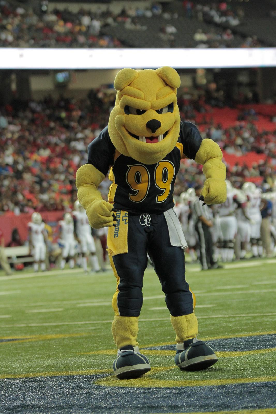 Aggies mascot of North Carolina A&T at the Atlant...