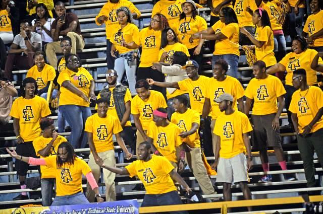 North Carolina A&T Aggies students enjoying the g...