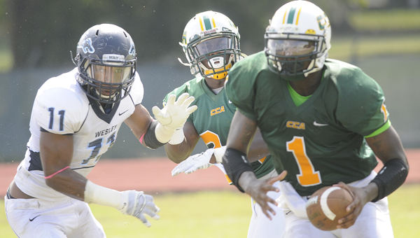 Concordia-Selma Hornets were shutout by Wesley Co...