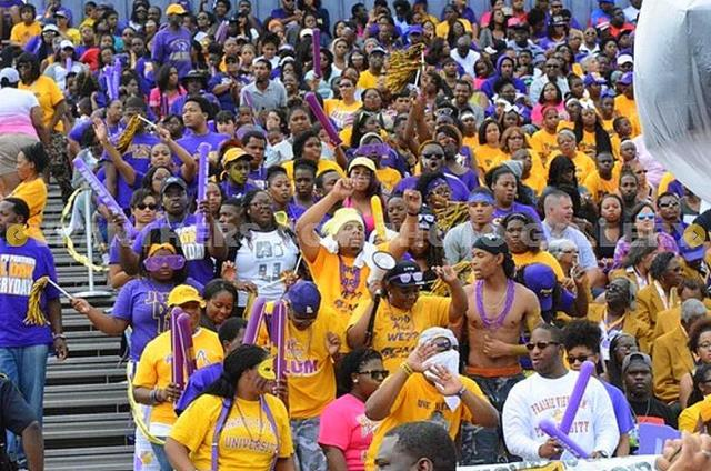 Prairie View A&M fans enjoying homecoming and a v...