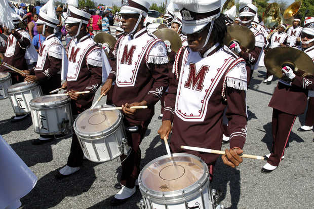 Morehouse College drumline at the 79th Annual Tus...