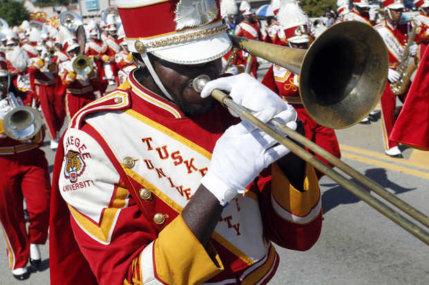 Tuskegee University Crimson Pipers marching band