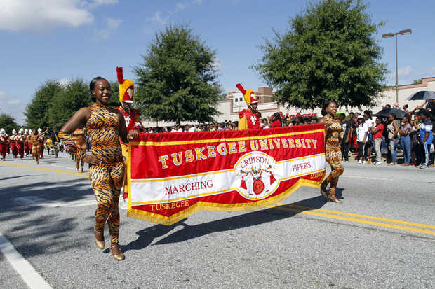 Tuskegee University Crimson Piper marching band