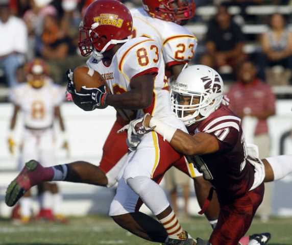 Tuskegee Golden Tigers take down the Maroon Tiger...
