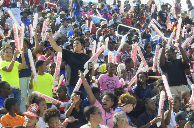 South Carolina State fans enjoying Youth/ROTC Day