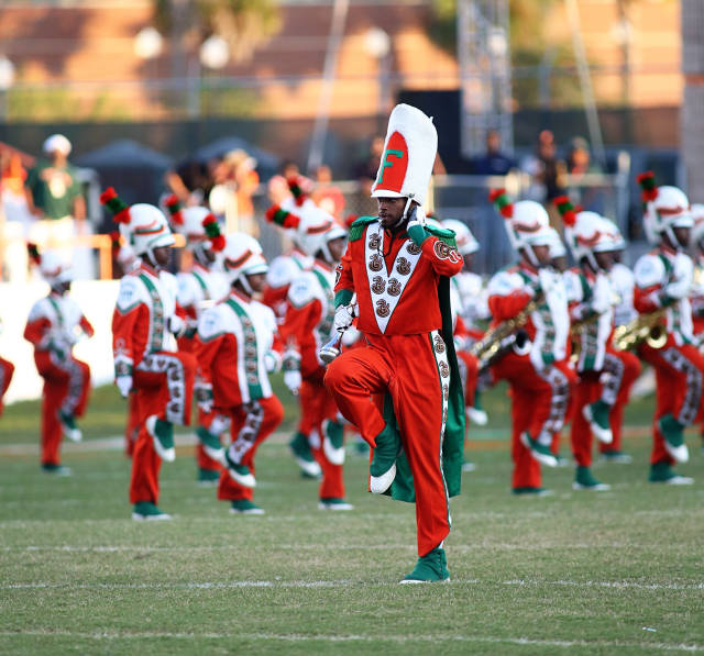 Florida A&M marching band performs at halftime