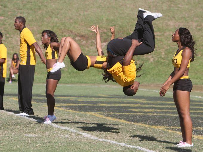 University Arkansas-Pine Bluff cheerleaders
