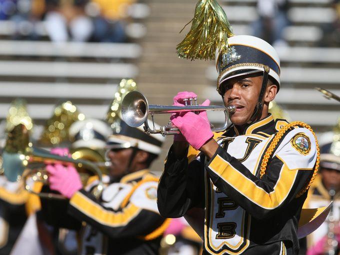 University Arkansas-Pine Bluff marching band perf...