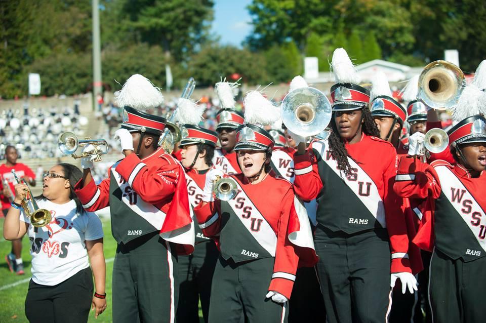 Winston-Salem State Rams marching Red Sea of Soun...