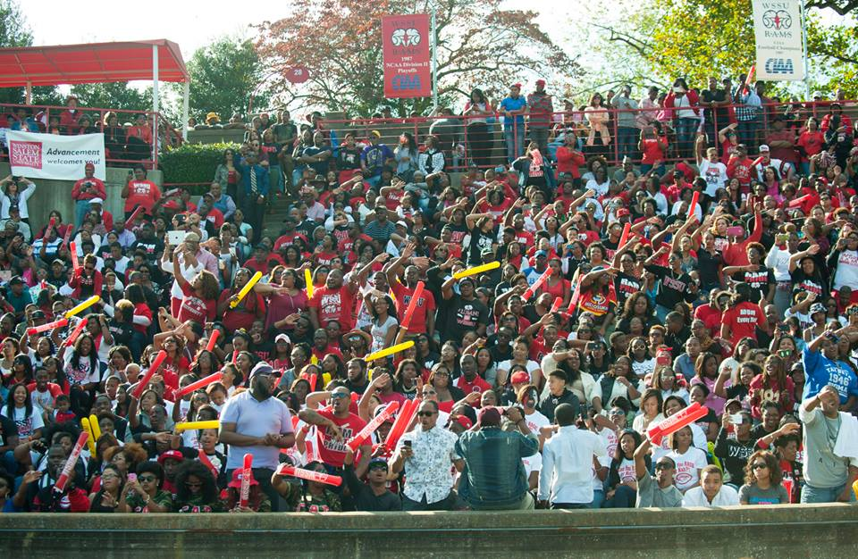 Winston-Salem State Rams fans at homecoming