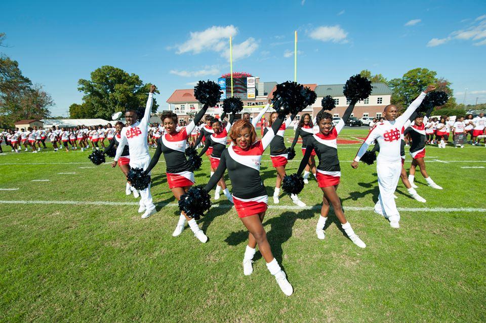 Winston-Salem State Rams cheerleaders