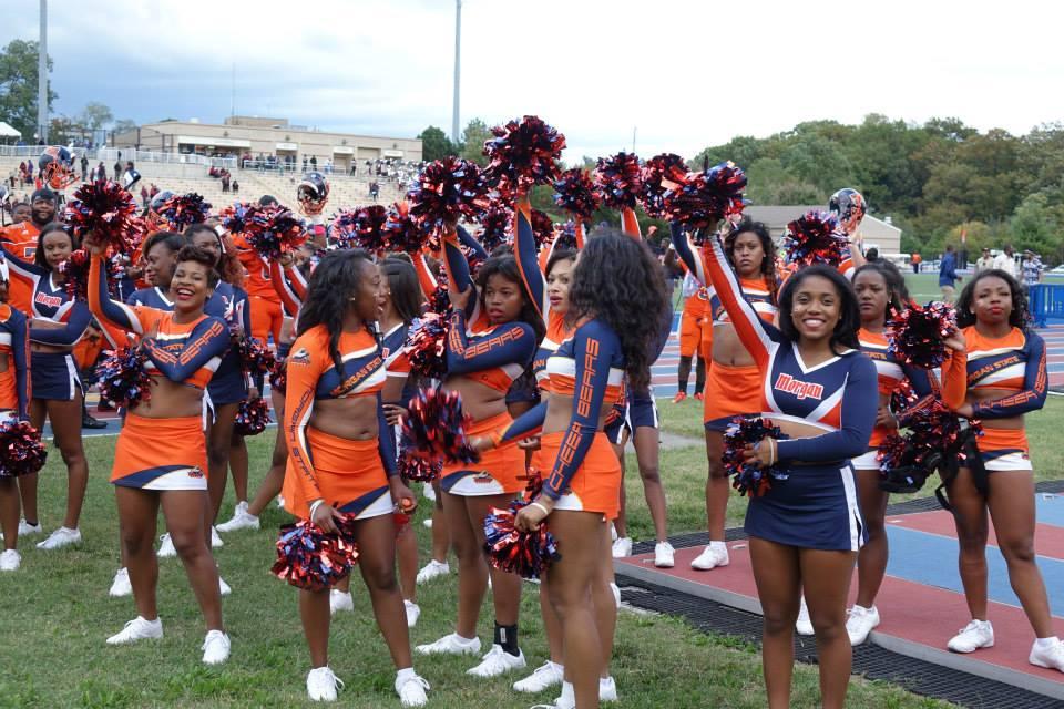 Morgan State cheerleaders at homecoming