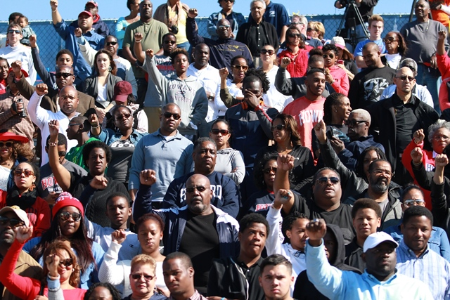 Howard Bison fans at homecoming