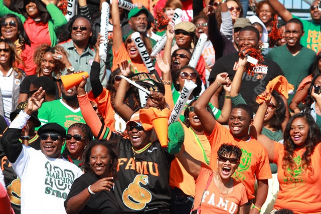 Florida A&M fans enjoying the lead over Howard