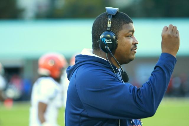 Virginia State head coach Latrell Scott calls to ...