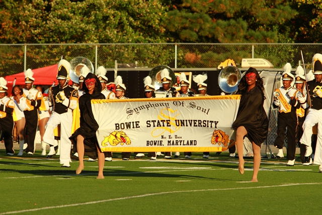 """Bowie State marching """"Symphony of Sound&quot..."""