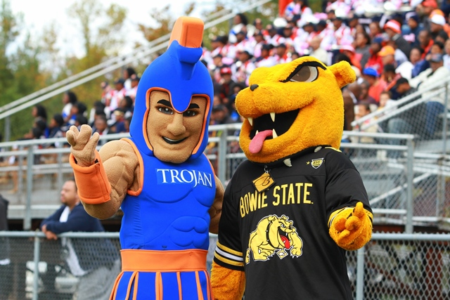Virginia State Trojan and Bowie State Bulldog mas...