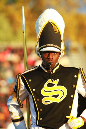 Bowie State drum major