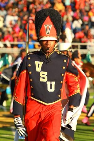 Virginia State drum major