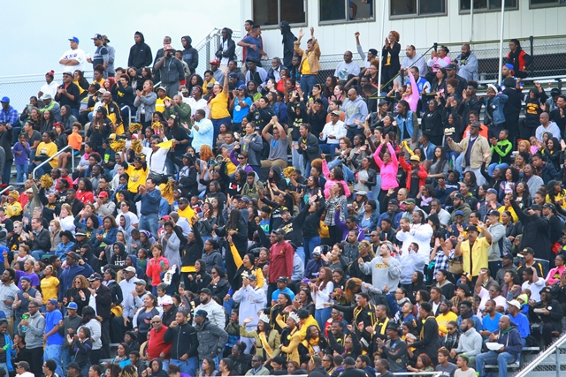 Bowie State Bulldogs fans at homecoming