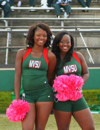 Mississippi Valley State cheerleaders at homecomi...