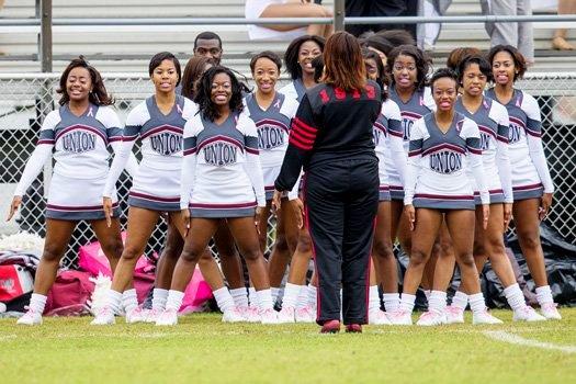 Virginia Union University Cheerleaders at homecom...