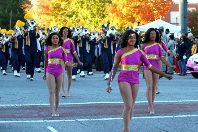 North Carolina A&T Golden Delight dancers at home...