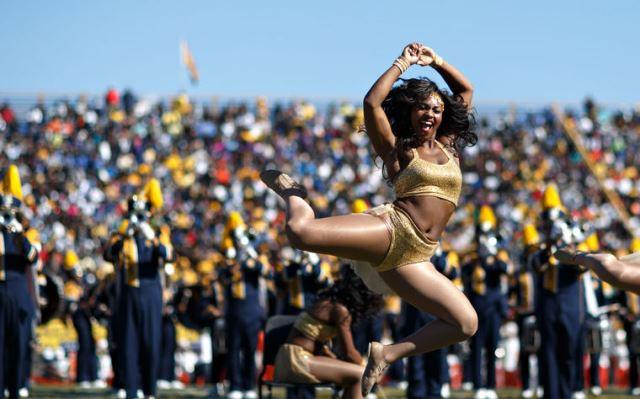 NCA&T Golden Delight dancers perform at halftime