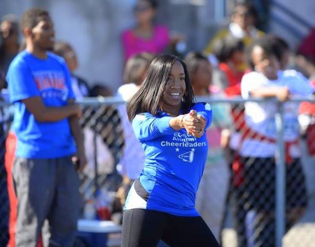 Elizabeth City State alumni cheerleader