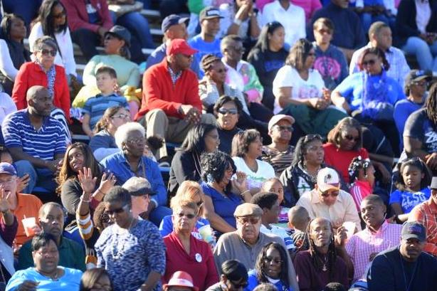 Elizabeth City State Vikings fans at homecoming