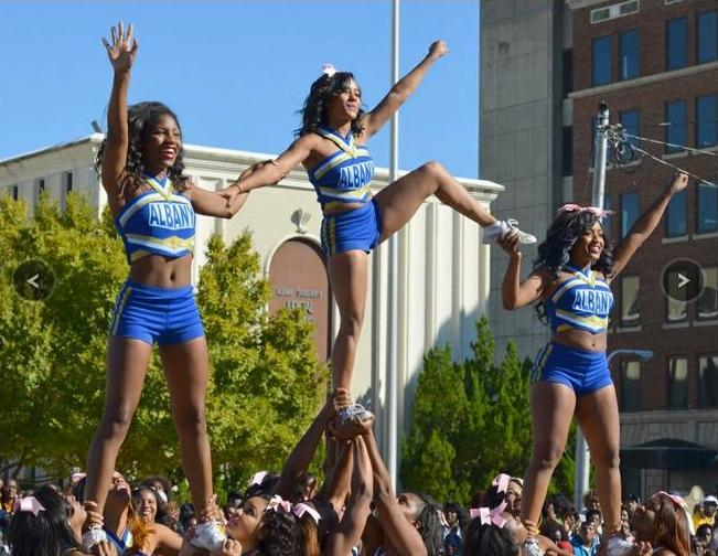 Albany State Golden Ram cheerleaders