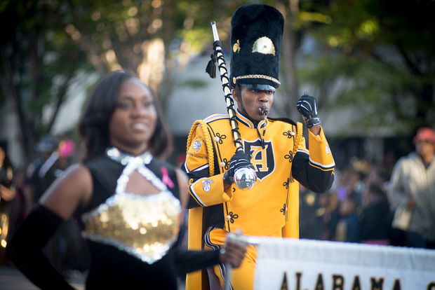 Alabama State marching band in the State Farm Par...