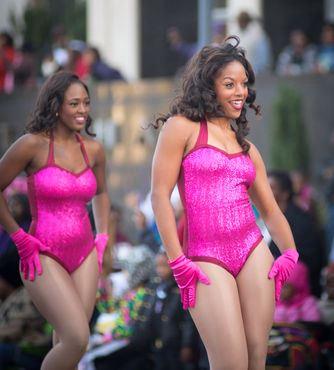 Alabama A&M dancers in the State Farm Parade