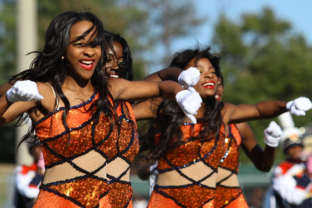 Virginia State Essence of Troy dancers perform at...