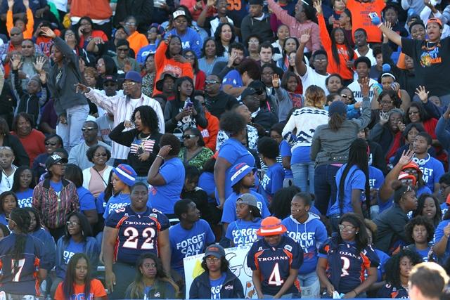 Virginia State Trojan fans at homecoming