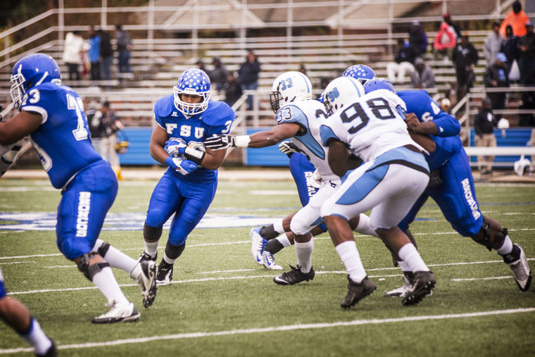 Fayetteville State Broncos seizes a victory in an...