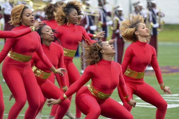 South Carolina State dancers at homecoming