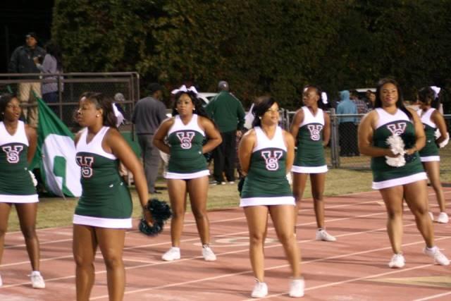 Mississippi Valley State Delta Devils cheerleader...