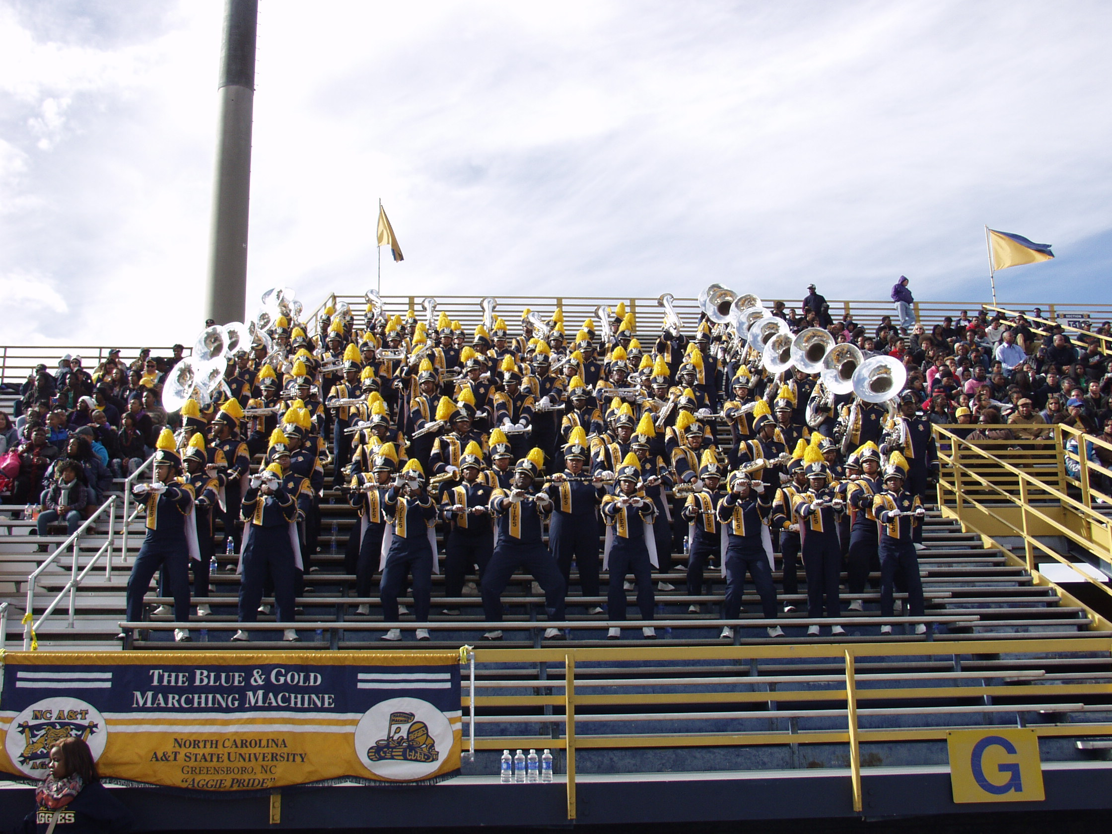 NC A&T U. Marching Band in their Stands